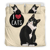 I Love Cats Bedding Set for Cat Lovers