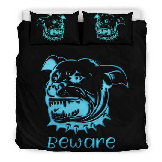 Beware of Pitbull Bedding Set