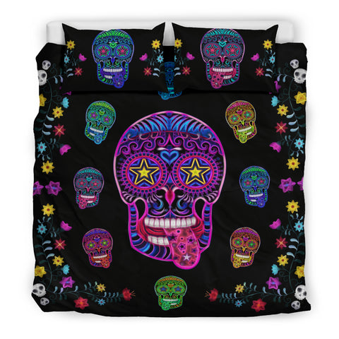 Sugar Skull Superstar Bedding Set for Lovers of Skulls
