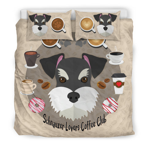Schnauzer Lovers Coffee Club Bedding Set