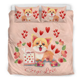 Corgi Love Bedding Set for Lovers of Corgis
