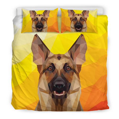 German Shepherd Modern Art Bedding Set for Dog Lovers