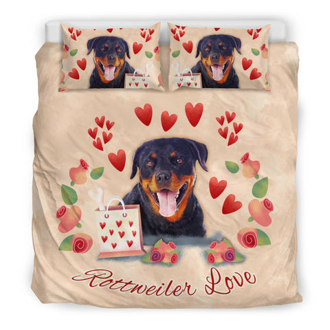 Rottweiler Love Bedding Set for Lovers of Rottweilers