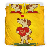 Love You Jack Russell Terrier Bedding Set for Lovers of Jack Russells