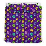 Muerto Sugar Skulls Bedding Set