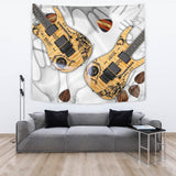 Paranormal Guitar Therapy Tapestry for Lovers of Music & Guitars