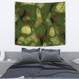 Abstract Camo Hidden Skulls Tapestry