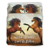 Wild Hearts Can't Be Broken Bedding Set Horses for Horse Lovers