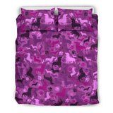 Dachshund Pink Camo Bedding Set for Lovers of Dachshunds
