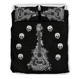Guitar & Skulls Bedding Set
