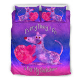 Everything I Do Is For My Dachshund Dog Bedding Set for Lovers of Dachshunds