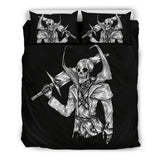 Skull Warrior Bedding Set for Lovers of Skulls