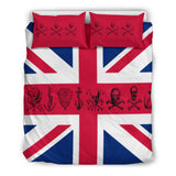 UK Flag with Pirate Skulls Bedding Set United Kingdom Skull Flag SOLD OUT