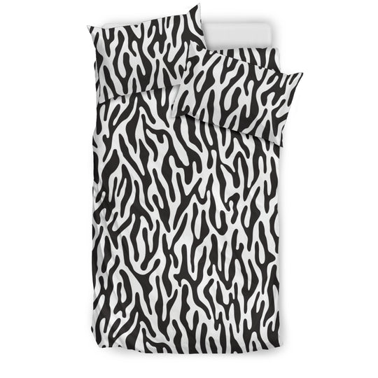Black and White Animal Pattern Bedding Set