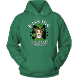 Kiss Me I'm Irish Today Unisex Hoodie with Corgi for Men & Women