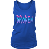 Broken District Women's Tank Grunge Meets Watercolor