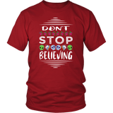 Don't Stop Believing in Aliens Unicorns Skulls District Unisex Shirt