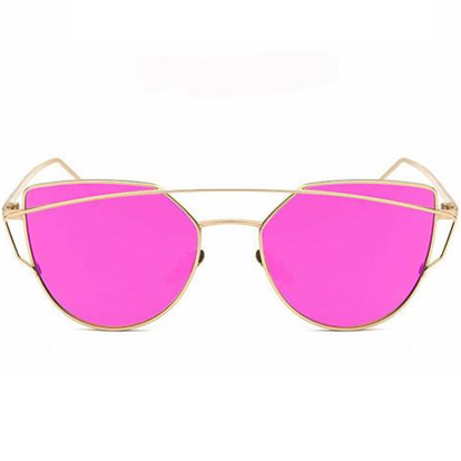 Cat Eye Mirrored Sunglasses - 9 Colors Available