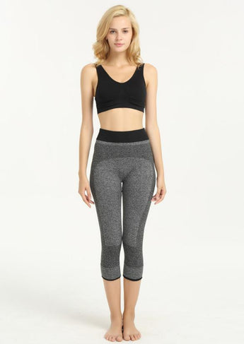 HIGH WAIST MID-CALF PATCHWORK LEGGINGS - 2 STYLES