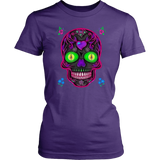 Wicked Skull District Women's T-Shirt for Lovers of Sugar Skulls