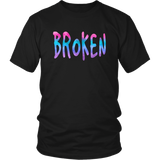 Broken District Unisex Shirt Grunge Meets Watercolor