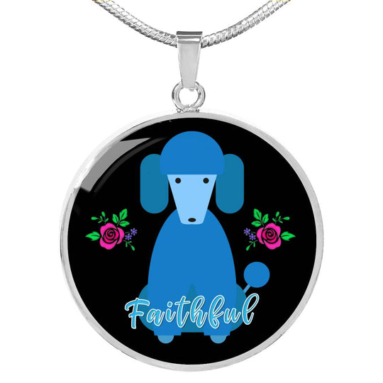 Faithful Necklace for Lovers Blue - Limited Edition - Poodle Dogs