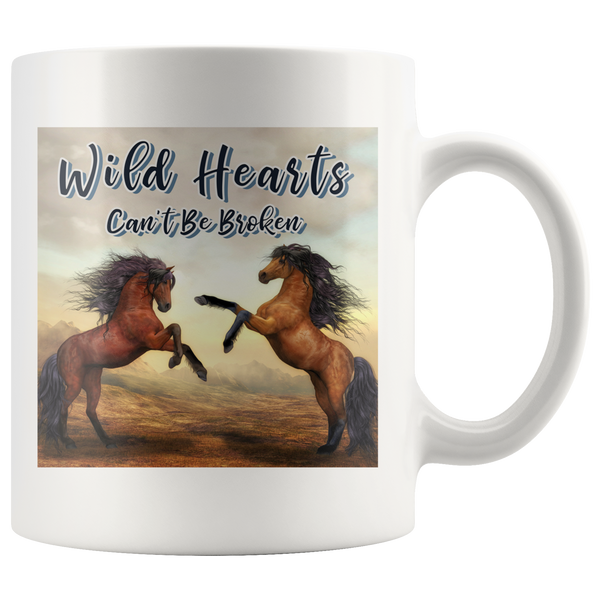 Wild Hearts Can't Be Broken Mug for Horse Loverz