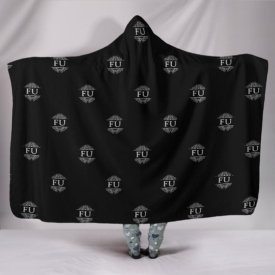FU Hooded Blanket Black