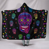 Sugar Skull Superstar Hooded Blanket for Lovers of Skulls