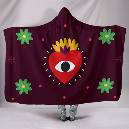 Eye Heart You Hooded Blanket