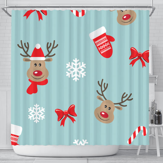 Christmas Deers Shower Curtain