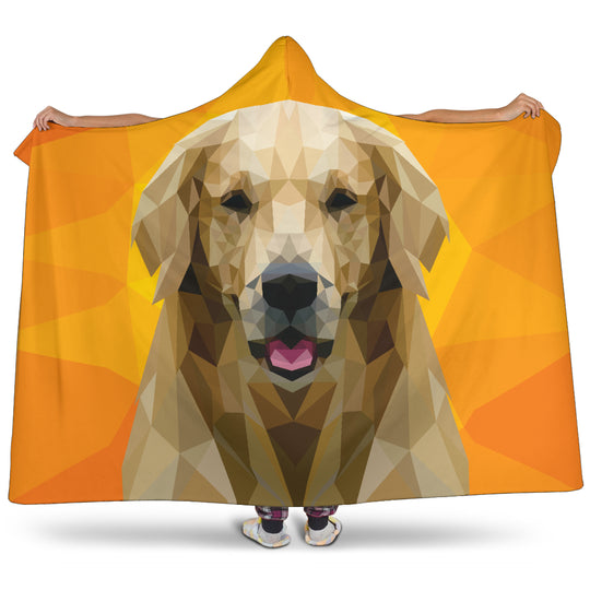 Labrador Retriever Dog Modern Art Hooded Blanket for Lovers of Labs