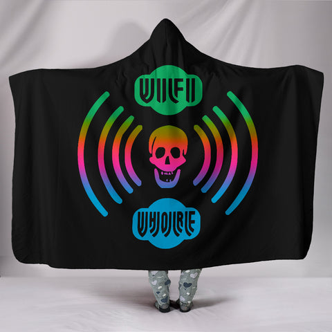 WiFi W H O R E Hooded Blanket