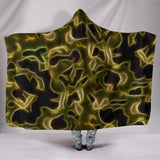 Fractal Camo Hooded Blanket Green for Camouflage Lovers