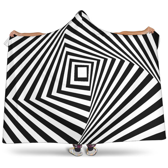 Stairway To The Stars Hooded Blanket Optical Illusion