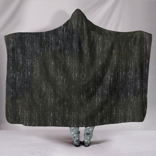 Distressed Camo Hooded Blanket Grunge Camouflage
