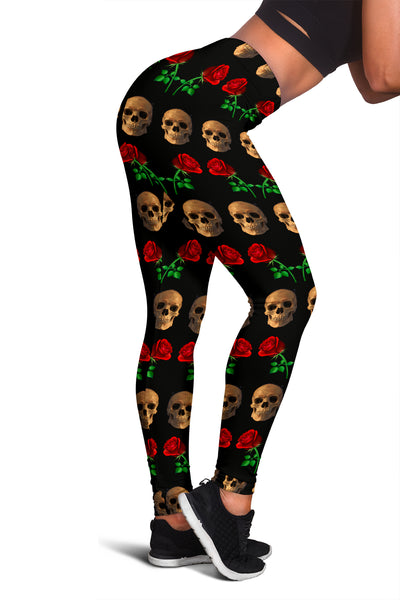 Roses and Skulls Leggings for Skull Lovers