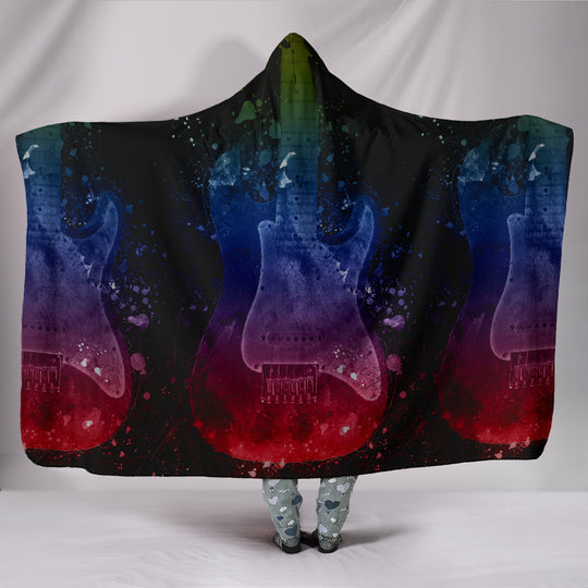 While My Guitar Gently Weeps Hooded Blanket