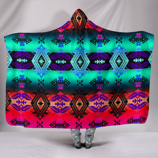 Sovereign Nation Sunrise Hooded Blanket