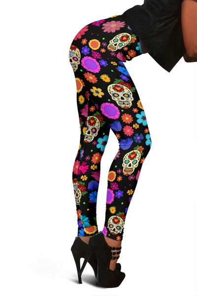 Sugar Skull Party Leggings for Lovers of Skulls