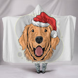 Have A Golden Christmas Hooded Blanket for Golden Retriever Dog Lovers
