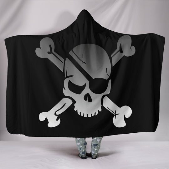 Pirate Skull Hooded Blanket