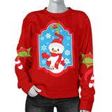 Women's Ugly Christmas Sweater with Snowman