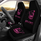 Beware of Pitbull Car Seat Cover Pink for Lovers of Pitbulls