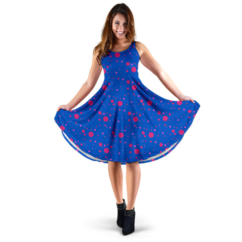 Pink and Blue State of Mind Women's Dress