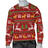 Ugly Christmas Red Yellow Green Men's Sweater