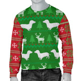 Ugly Christmas Sweater For Men With Dachshund Dogs