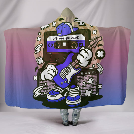 Amped Guitar Hooded Blanket for Musicians and Music Freaks
