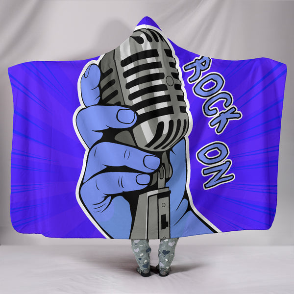 Rock On Hooded Blanket for Music Freaks