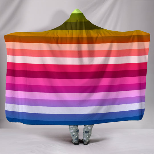 Everyone's Rainbow Hooded Blanket